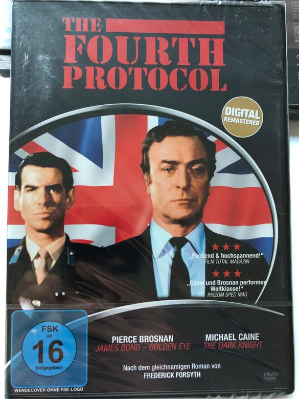 The Fourth Protocol DVD 1987 Das vierte Protokoll / Digital Remastered / Directed by John Mackenzie / Starring: Pierce Brosnan, Michael Caine / Based on Frederick Forsyth's bestseller (807297166392)