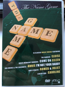The Name Game DVD 2004 / 10 classic Music Videos / The Damned - Eloise, Dexys Midnight Runners / Come on Eileen, Kid Creole & The Coconuts, Dire Straits, Status Quo (801735405586)