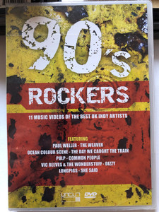 90's Rockers DVD 2004 / 11 Music Videos of the Best UK Indy Artists / Featuring: Paul Weller, Ocean Colour Scene, Pulp, Vic Reeves & The Wonderstuff, Longpigs / CUTS 1051 (801735405180)