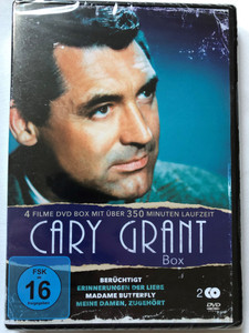 Cary Grant Box - 4 films with over 350 minute runtime / Notorious 1946, Penny Serenade 1941, Madame Butterfly 1932, Ladies Should Listen 1934 / Cary Grant B&W Classics in German language / 2 DVD (4051238062663)