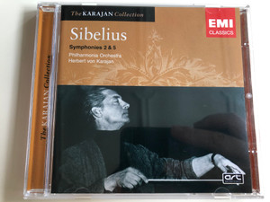 Jean Sibelius Symphonies 2 & 5 / The Karajan Collection / Philharmonia Orchestra / Conducted by Herbert von Karajan / Audio CD 1998 / EMI Classics (724347688225)