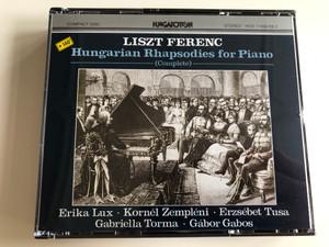 Liszt Ferenc - Hungarian Rhapsodies for Piano (Complete) / Erika Lux, Kornél Zempléni, Erzsébet Tusa, Gabriella Torma, Gábor Gabos / Hungarorton / 2 x Audio CD 1989 / HCD 11488-89-2 (HCD11488-89-2)