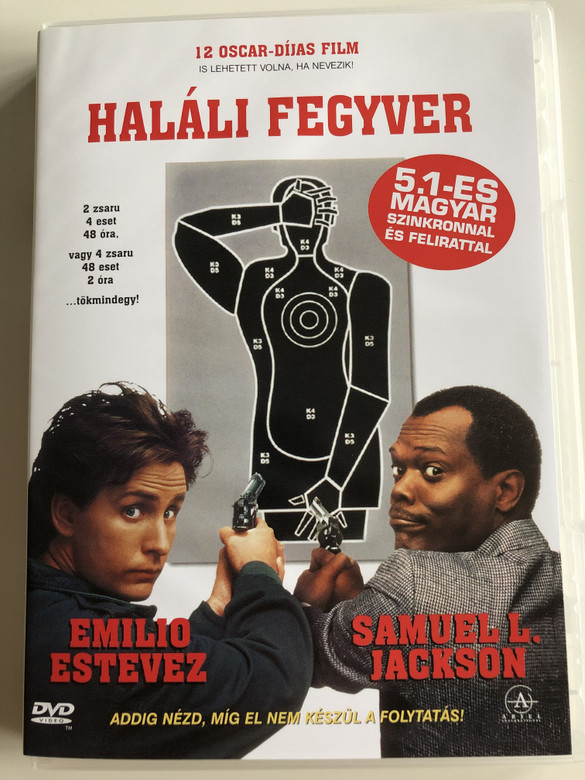 National Lampoon's Loaded Weapon DVD 1993 Haláli Fegyver / Directed by Gene Quintano / Starring: Emilio Estevez, Samuel L. Jackson, Jon Lovitz, Kathy Ireland, William Shatner, Whoopi Goldberg (5999881067804)