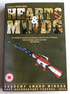 Hearts & Minds DVD 1974 / Directed by Peter Davis / The definitive American documentary about the war in Vietnam - built to outrage, appall, and indict / Best Documentary 1974 - Academy Award (5055002552069)