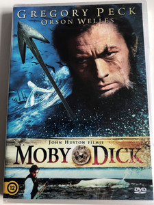 Moby Dick DVD 1956 / Directed by John Houston / Starring: Gregory Peck, Richard Basehart, Leo Genn, Orson Welles / Film adaptation of literary classic by Herman Melville (5999546336429)