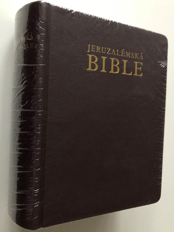 Jeruzalémská Bible - Jerusalem Bible in Czech Language / Písmo Svaté Vydané Jeruzalémskou Biblickou Školou / Brown Leather Bound with thumb index / Contains Deuterocanonical books / Catholic version (9788071955399)