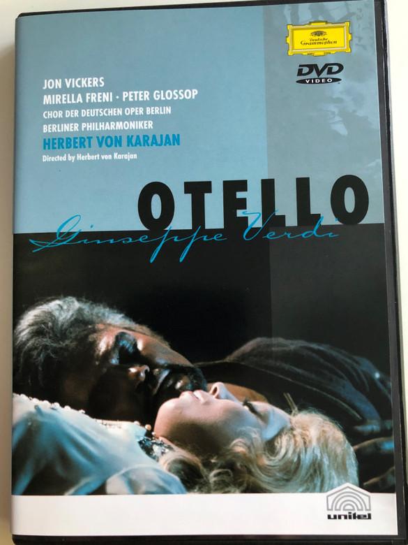 Giuseppe Verdi - Otello DVD 2001 Jon Vickers, Mirella Freni - Peter Glossop / Berliner Philharmoniker - Chor der Deutschen Oper Berlin / Conducted by Herbert Von Karajan (044007300695)