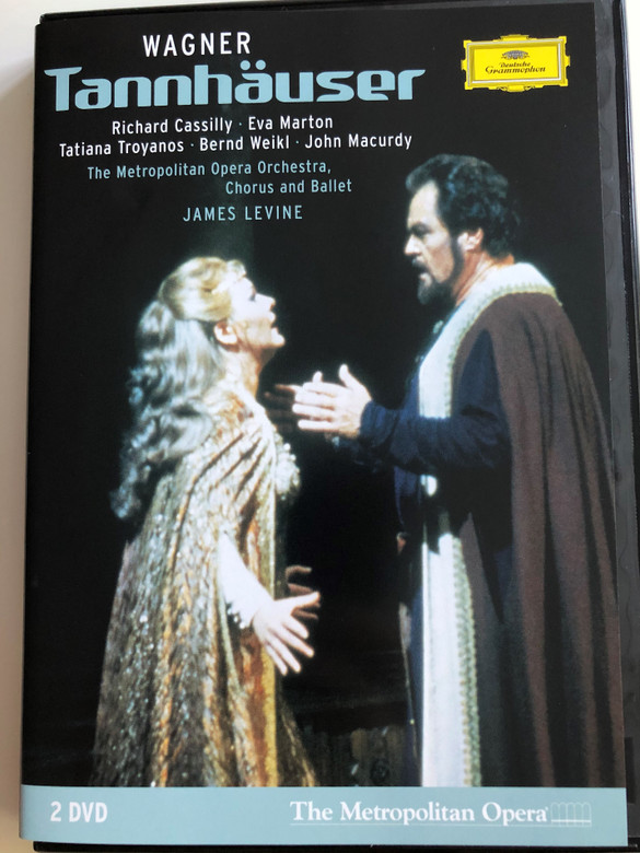 Richard Wagner - Tannhäuser 2 DVD 2006 / The Metropolitan Opera Orchestra, Chorus and Ballet / Conducted by James Levine / Richard Cassilly, Eva Marton, Tatiana Troyanos, Bernd Weikl, John Macurdy / Directed for video by Brian Large (044007341711)