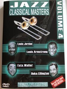 Jazz Classical Masters - Vol. 4 / DVD / Louis Armstrong, Fats Waller, Louis Jordan, Duke Ellington / Digitally remastered (8716718008123)