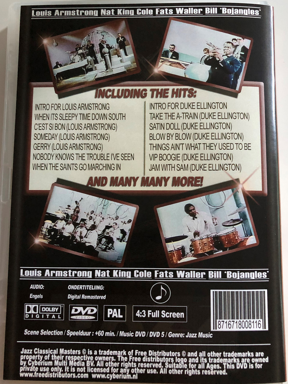 Jazz Classical Masters - Vol  3 / DVD / Fats Waller, louis Armstrong, Nat  King Cole, Bill