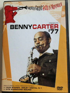 Benny Carter '77 DVD 2004 / Norman Granz' Jazz in Montreux / Three Little Words, In a Mellow Tone, Body & Soul, Here's that Rainy Day / Restored and Remastered in Dolby Digital 5.1 & DTS surround (5034504938373)