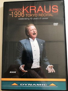 Afredo Kraus - The 1996 Tokyo Recital DVD 2010 / Celebrating 40 years of career / Recorded at Tokyo Bunkamura Orchard Hall 1996 / Alfredo Kraus tenor, Emiko Suga soprano, Edelmiro Arnaltes piano, Asier Polo cello (8007144336066)