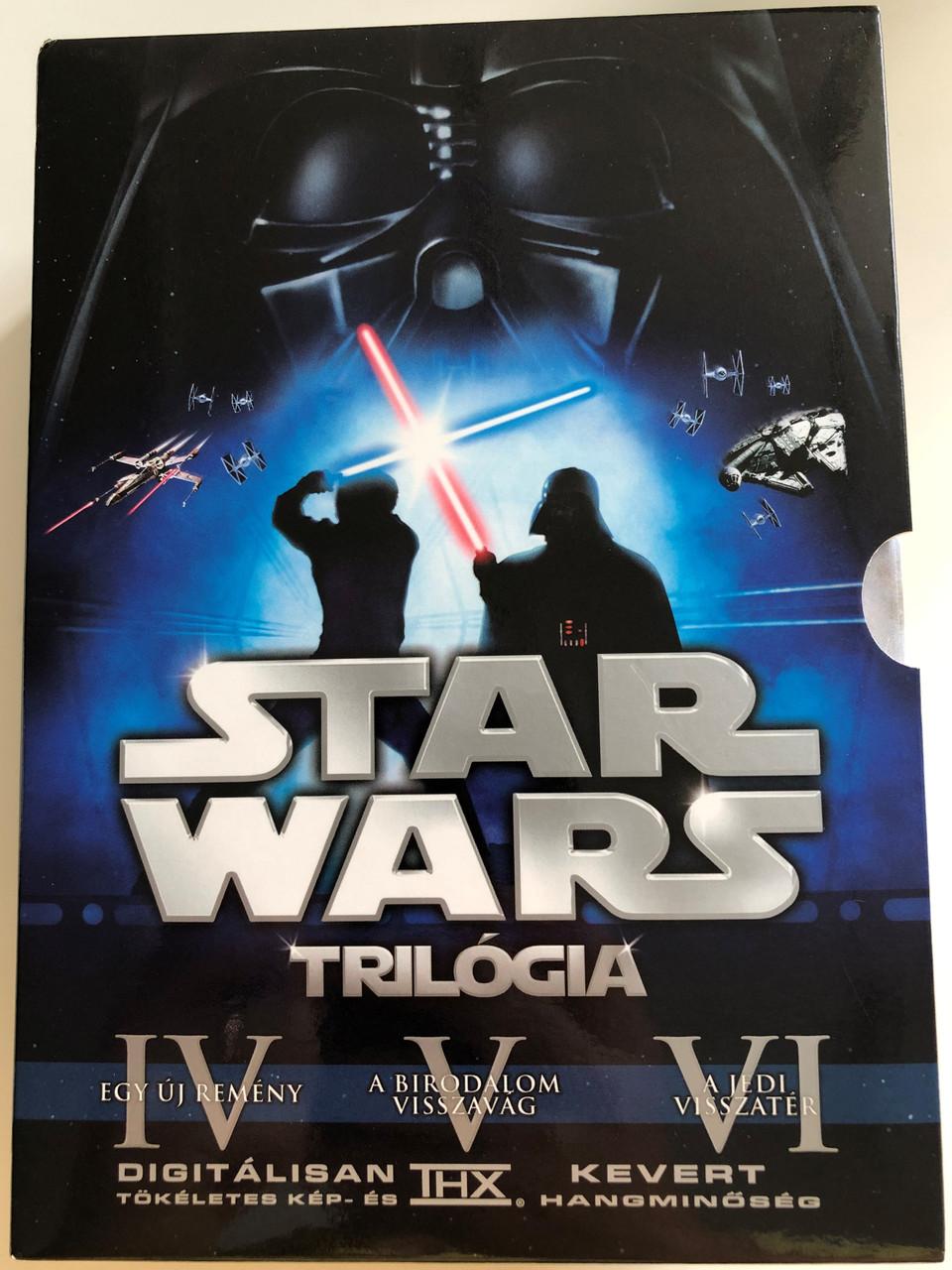 Star Wars Trilogy Dvd Set 2004 Episode Iv A New Hope V The Empire Strikes Back