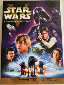 Star Wars Episode V The Empire Strikes Back DVD 1980 Star Wars V A Birodalom Visszavág / Directed by Irvin Kershner / Starring: Mark Hamill, Harrison Ford, Carrie Fisher, Billy Dee Williams, Anthony Daniels, David Prowse, Kenny Baker, Peter Mayhew, Frank Oz (SWepV-DVD)
