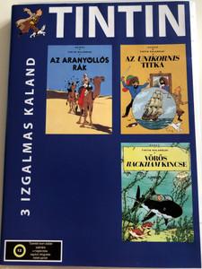 Hergé's Adventures of Tintin DVD 1957 Tintin Kalandjai (Les Aventures de Tintin, d'après Hergé) / Directed by Ray Goossens / Starring: Dallas McKennon, Paul Frees, Peter Hawkins / 3 Izgalmas Kaland / 3 Exciting Adventures (5999559990168)
