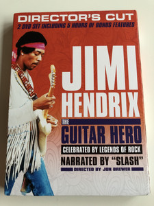 "Jimi Hendrix the Guitar Hero DVD 2013 / Celebrated by Legends of Rock / Directed by Jon Brewer / Narrated by ""Slash"" / Director's Cut / 2 DVD set including 5 hrs of Bonus Features / (602537485796)"