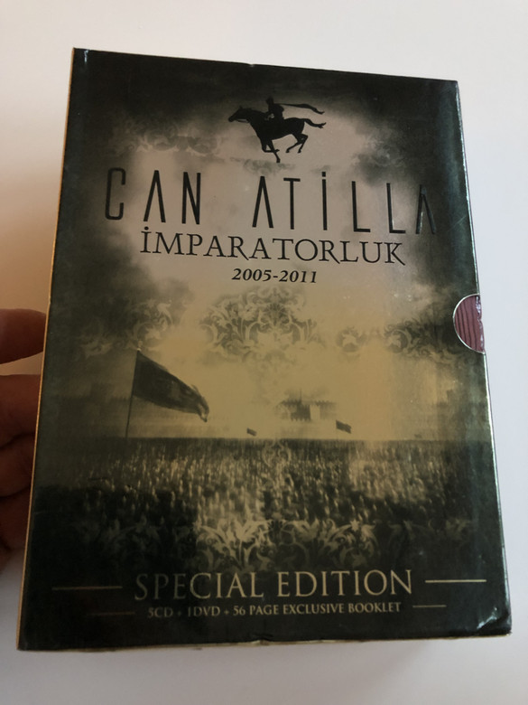 """Can Atilla - Imparatorluk 2005 - 2011 """"The Empire"""" / Special Edition 5 CD - 1 DVD - 56 Pg Exclusive Booklet / Sony Music (8698550696563)"""