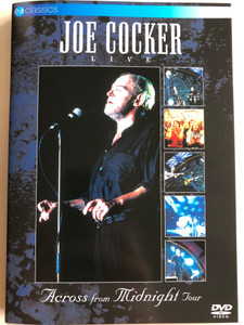 Joe Cocker Live DVD 1997 / Across from the Midnight Tour / Directed by Egbert van Hees / Could you be loved, Up Where We Belong, Summer in the City, Unchain My Heart / ev Classics (5036369804992)