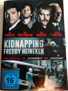 Kidnapping Freddy Heineken DVD 2015 / Directed by Daniel Alfredson / Starring: Jim Sturgess, Sam Worthington, Ryan Kwanten, Anthony Hopkins (4013549066167)