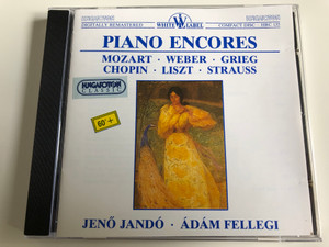 Piano Encores - Mozart - Weber - Grieg - Chopin - Liszt - Strauss / Jenő Jandó / Ádám Fellegi / Hungaroton White Label / HRC 135 / Audio CD 1989 (HRC135)