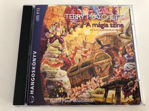 Terry Pratchett - A mágia színe / Az első Korongvilág regény / Read by Rudolf Péter / Hungarian Audio Book edition of The Light Fantastic by Terry Pratchett / Mp3 Audio CD 2008 / Kossuth - Mojzer kiadó (9789630959056)