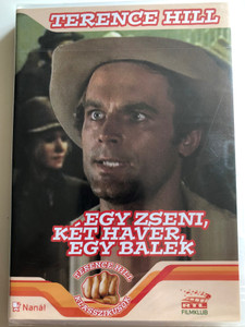 Un genio, due compari, un pollo DVD 1975 Egy zseni, két haver, egy balek / A Genius, Two Partners and a Dupe / TERENCE HILL classics / Directed by Damiano Damiani, Sergio Leone / Music Ennio Morricone / Starring: Terence Hill, Miou-Miou, Robert Charlebois (5999545581127