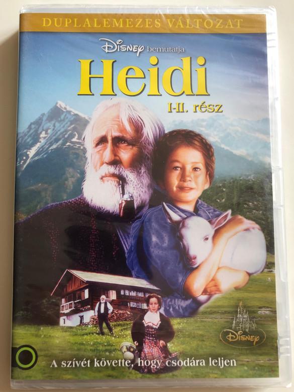 Heidi I-II. DVD 1993 A szívét követte, hogy csodára leljen / Directed by Michael Ray Rhodes / Starring: Noley Thornton, Jason Robards, Jane Seymour, Jane Hazlegrove, Ben Brazier, Lexi Randall / American TV miniseries (5999883203453)