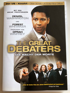The Great Debaters DVD 2007 Die Macht der Worte / Directed by Denzel Washington / Starring: Denzel Washington, Forest Whitaker, Nate Parker, Jurnee Smollett / Produced by Oprah Winfrey (4260261431524)