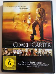 Coach Carter DVD 2005 Es Beginnt auf der strasse. Es endet Hier / Directed by Thomas Carter / Starring: Samuel L. Jackson, Ashanti, Rob Brown, Channing Tatum, Rick Gonzalez (4010884558302)