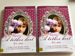 The Secret Garden Part I&II DVD SET 1975 A titkos kert I. és II. rész/ Directed by Dorothea Brooking / Starring: Sarah Hollis Andrews, Hope Johnstone, William Marsh, David Patterson / Based on Frances Hodgson Burnett's Novel (SecretGardenDVD-SET)