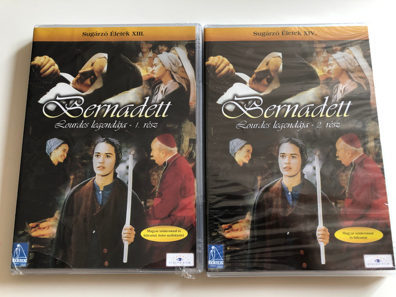 La passion de Bernadette 2 DVD SET 1989 Bernadett Lourdes legendája 1-2. rész / Directed by Jean Delannoy / Starring: Sydney Penny, Michéle Simonnet, Roland Lesaffre / Sugárzó Életek XIII - XIV.