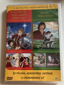 Giants of Faith Cartoon Series II DVD: Nicolas - The boy who became Santa / Francis - The Knight of Assisi / Szent Mikulás - A fiú, akiből a Mikulás lett / Ferenc - Assisi lovagja / Jó példák keresztény értékek a gyerekeknek is! / Great Christian examples & values for Children! (5999883203750)