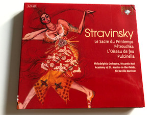 Stravinsky - Le Sacre du Printemps, Pétrouchka, L'Oiseau de feu, Pulcinella / Philadelphia Orchestra / Conducted by Riccardo Muti, Academy of St. Martin-in-the-Fields, Sir Neville Marriner / 2 CD Audio SET / Brilliant Classics (5029365814829)