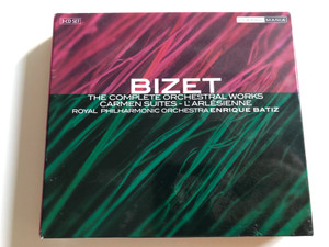 Bizet - The Complete Orchestral Works / Carmen Suites - L' Arlésienne / Royal Philharmonic Orchestra / Conducted by Enrique Batiz / Classic Mania / 3CD Set (5028421928302)