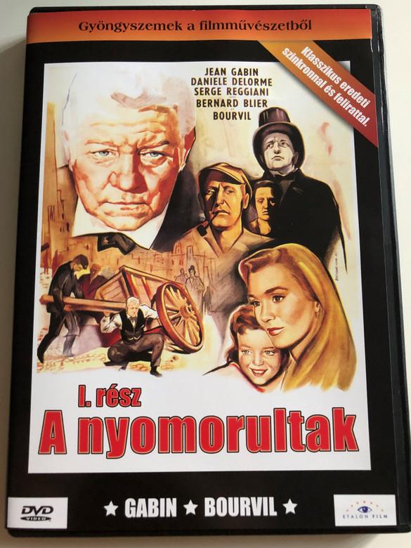 Les Miserables I. DVD 1958 A nyomorultak I. rész / Directed by Jean-Paul le Chanois / Starring: Jean Gabin, Bernart Blier, Bourvil / Gyöngyszemek a filmművészetből (5999883203613)