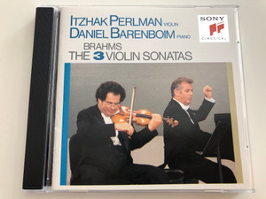 Johannes Brahms - The 3 Violin Sonatas / Itzhak Perlman Violin, Daniel Barenboim piano / Sony Classical / Audio CD 1990 / SK 45819 (07464458192)