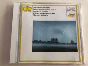 Johannes Brahms - Klavierkonzert Nr. 2 / Maurizio Pollini / Wiener Philharmoniker / Conducted by Claudio Abbado / Robert Scheiwein cello solo / Audio CD (028941947123)