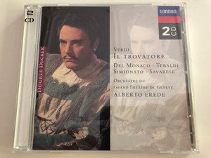 Verdi - Il Trovatore / Del Monaco - Tebaldi - Simionato - Savarese / Orchester du Grand Theatre de Geneve / Conducted by Alberto Erede / Double Decker - 2x Audio CD