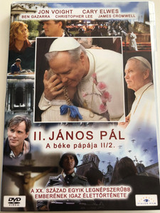 Giovanni Paolo II. part 2 DVD 2005 II. János Pál - A béke pápája II/2. (Pope John Paul II) / Directed by John Kent Harrison / Starring: Jon Voight, Cary Elwes, Ben Gazzara, Christopher Lee (5999883203170)