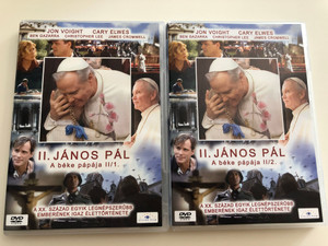 Giovanni Paolo II. DVD SET 2005 II. János Pál - A béke pápája (Pope John Paul II) / Directed by John Kent Harrison / Starring: Jon Voight, Cary Elwes, Ben Gazzara, Christopher Lee / Parts 1 & 2 (JPaul2-DVDset)