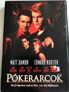 Rounders DVD 1998 Pókerarcok / Directed by John Dahl / Starring: Matt Damon, Edward Norton, John Turturro, Famke Janssen, Gretchen Mol (5999048917409)