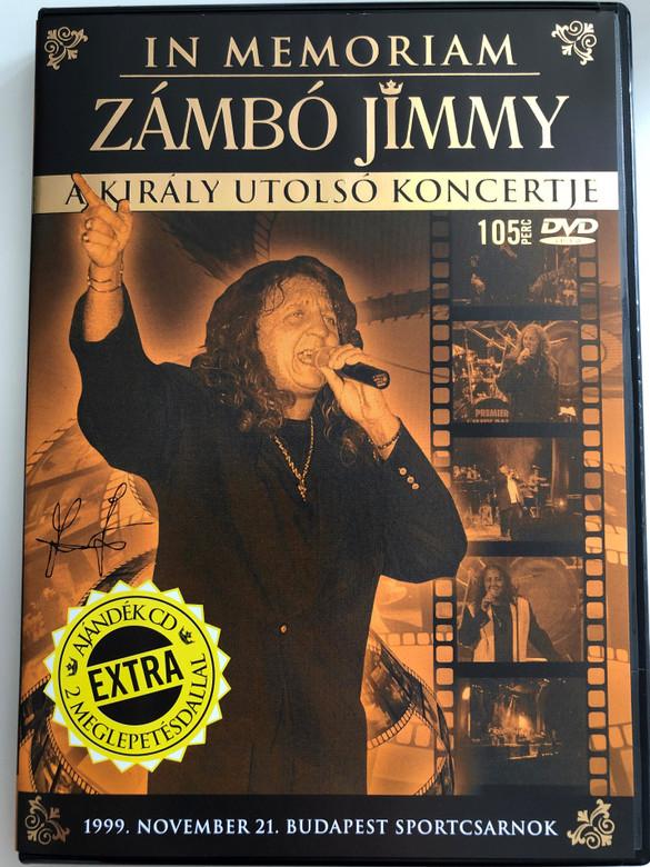 In Memoriam Zámbó Jimmy DVD 2006/ A Király utolsó koncertje / 1999. Nov. 21 Budapest Sportcsarnok / Bonus CD with 2 extras (5051011249358)