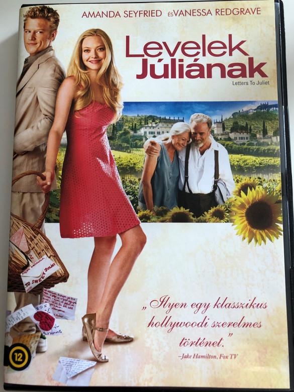 Letters to Juliet DVD 2010 Levelek Júliának / Directed by Gary Winick / Starring: A,amda Seyfried, Christopher Egan, Gael García Bernal, Vanessa Redgrave (5996051160112)