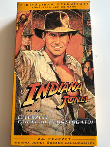 Indiana Jones and Raiders of The Lost Ark VHS 1981 Indiana Jones és az Elveszett Frigyláda Fosztogatói / Directed by Steven Spielberg / Starring: Harrison Ford, Karen Allen, Paul Freeman, Ronald Lacey, John Rhys-Davies, Denholm Elliott / 24. fejezet Indiana Jones Összes kalandjaiból (5996217220018)