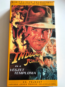 Indiana Jones and the Temple of Doom VHS 1984 Indiana Jones és a Végzet Temploma / Directed by Steven Spielberg / Starring: Harrison Ford, Cate Capshaw, Amrish Puri, Jonathan Ke Quan (5996217220339)