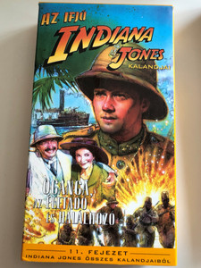 The Adventures of Young Indiana Jones - Oganga, The giver and Taker of Life VHS 1995 Az ifjú Indiana Jones Kalandjai - Oganga, az életadó és halálhozó / Directed by Simon Wincer / Starring: Sean Patrick Flanery, Ronny Coutteure, Brian Pringle, Michael Duchaussoy (5996217227673)