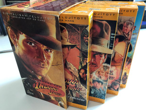 Indiana Jones VHS Collectors SET / Kalandra Fel - Indiana Jones / Raiders of The Lost Ark, The Last Crusade, The Temple of Doom / Bonus Casette : The Adventures of Young Indiana Jones - Oganga / 4 VHS casettes (5996217227802)