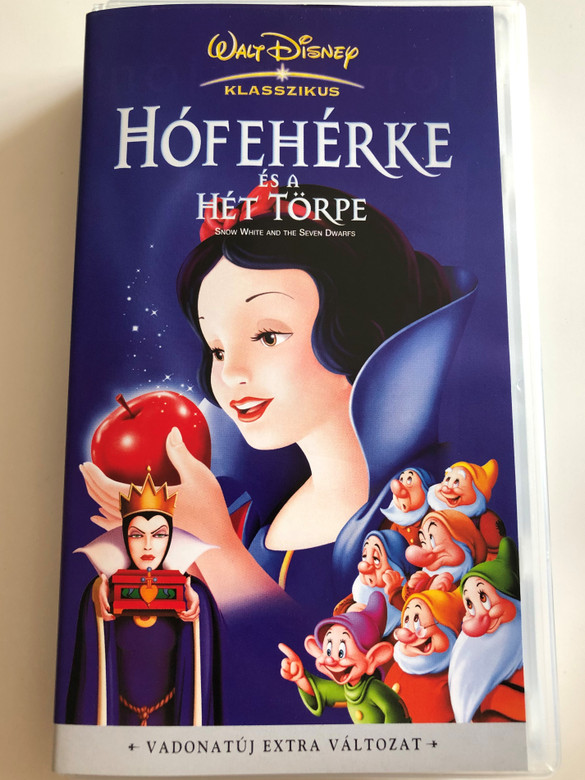 Hófehérke és a Hét Törpe VHS 1994 Snow White and the Seven Dwarfs / Hungarian / Director: David Hand / Walt Disney Classics (5996255604399)