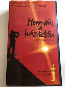 Fiddler on the roof VHS 1971 Hegedűs a háztetőn / Directed by Norman Jewison / Starring: Topol, Norma Crane, Leonard Frey, Molly Picon, Paul Mann (5997696300598)