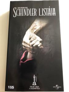 Schindler's List VHS 1993 Schindler listája / Directed by Steven Spielberg / Starring: Liam Neeson, Ben Kingsley, Ralph Fiennes, Caroline Goodall (5050582213560)